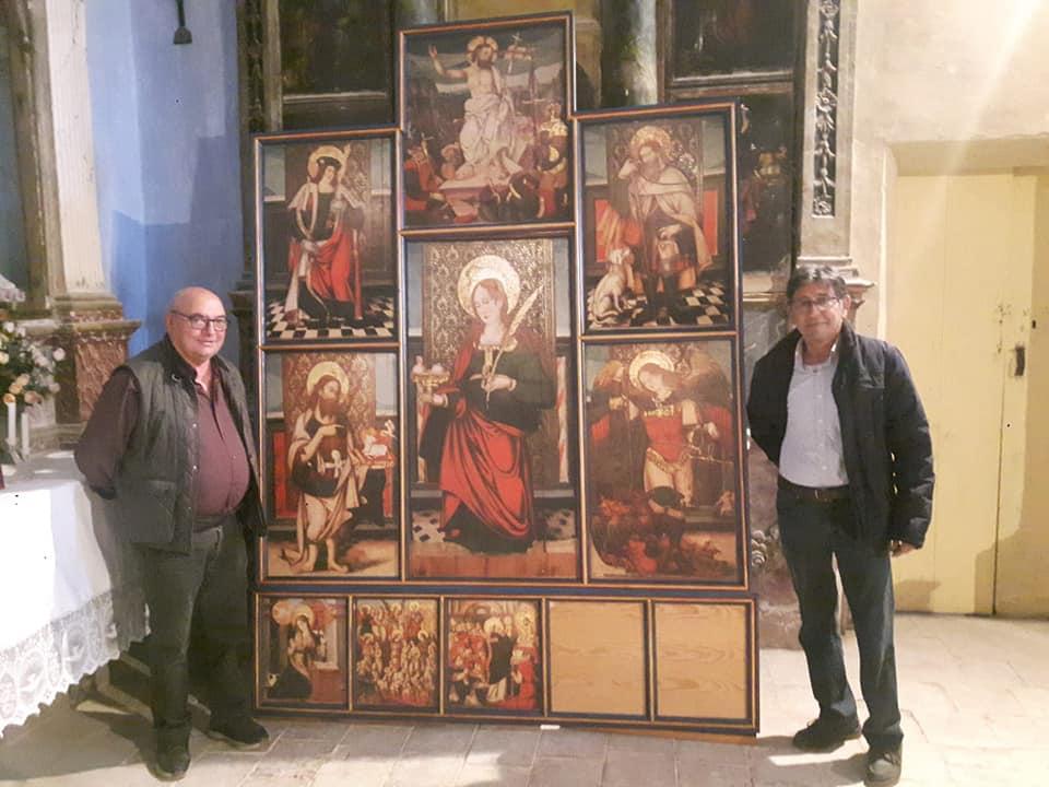 Presentan la réplica del retablo de Santa Águeda