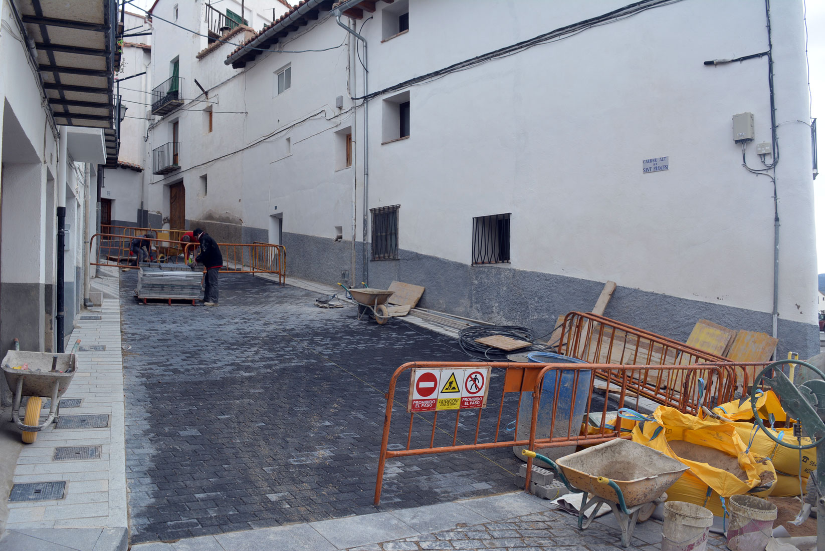 Finalitzen les obres del carrer Alt de Sant Francesc de Morella