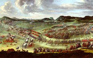 Batalla d'Almansa, 1707. Quadre de Buenaventura Ligli de 1709. Corts Valencianes