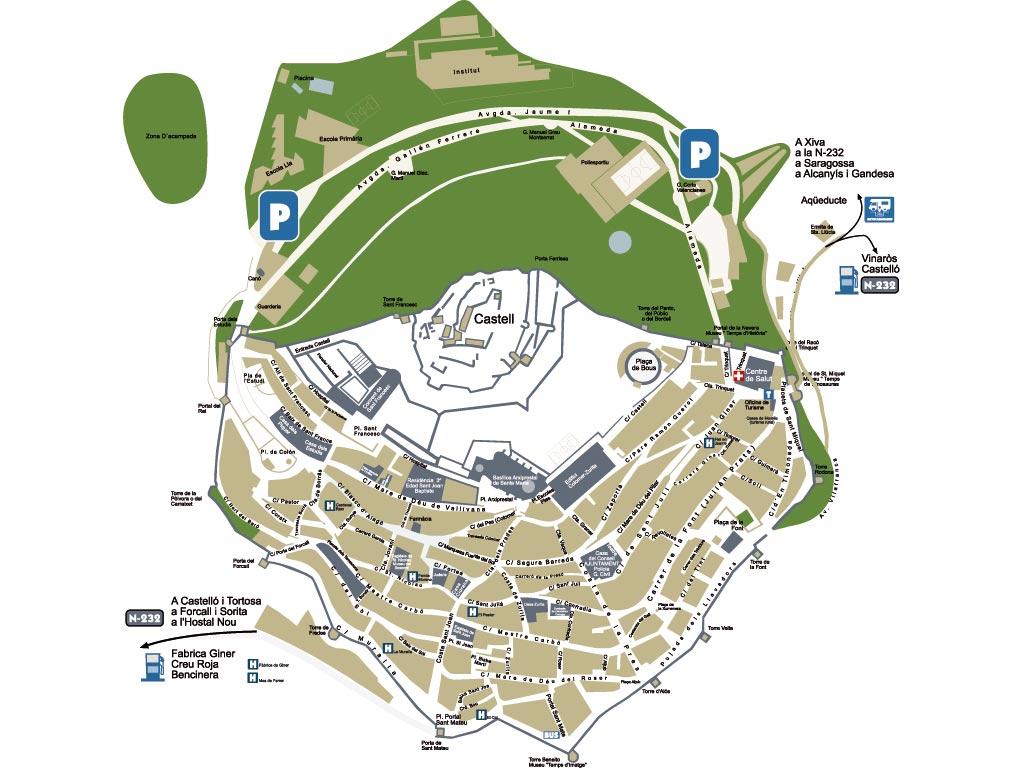 mapa turístico morella