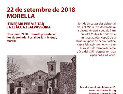 Morella participa en les Jornades Europees de Patrimoni del Territori Sénia  2018