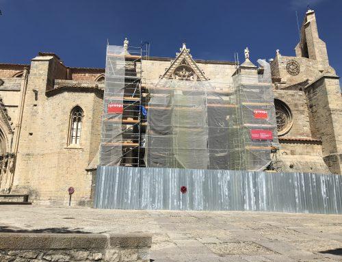 S'inicia l'última fase de la restauració de la Porta dels Apòstols de la Basílica Arxiprestal