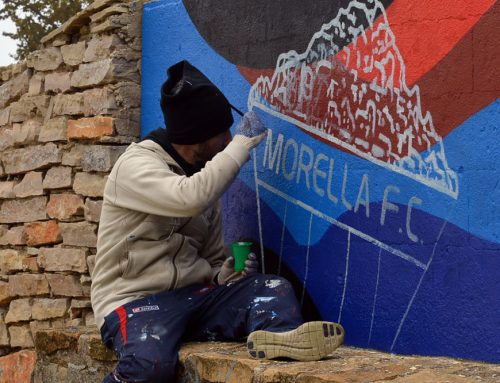 Un mural uneix de nou el Morella F.C. amb l'equip argentí C. A. San Lorenzo de Almagro