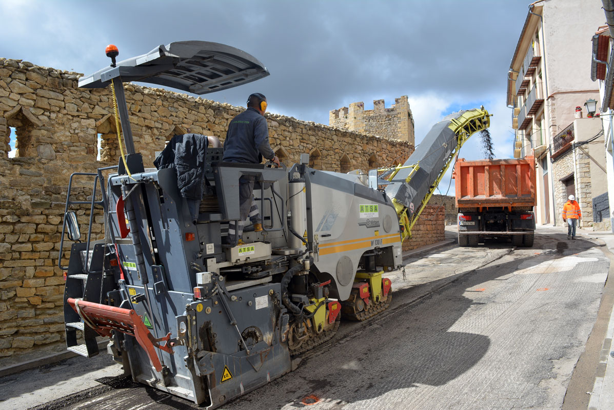 Obres de millora del carrer de La Muralla de Morella