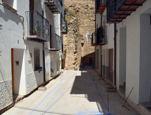 Reinicien les obres del carrer La Taleca a Morella