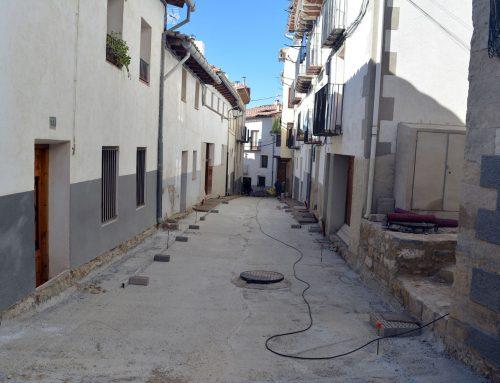 Última fase de les obres del carrer Alt de Sant Francesc de Morella