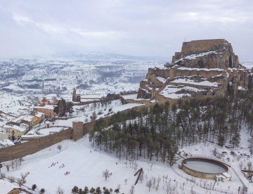 El temporal de nieve deja importantes daños en Morella