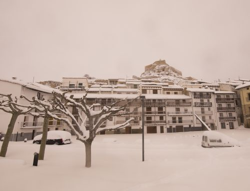 Situación del temporal de nieve en Morella