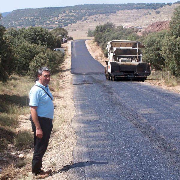 Foto d'Arxiu de la renovació de camins rurals