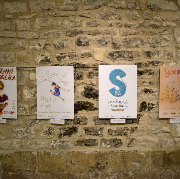 Cartells guanyadors del concurs del 54 Sexenni de Morella