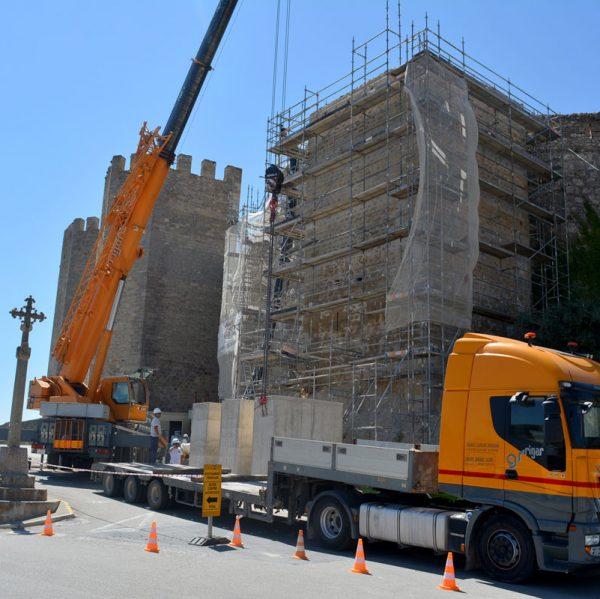 Obres rehabilitació de la Torre del Racó a Morella