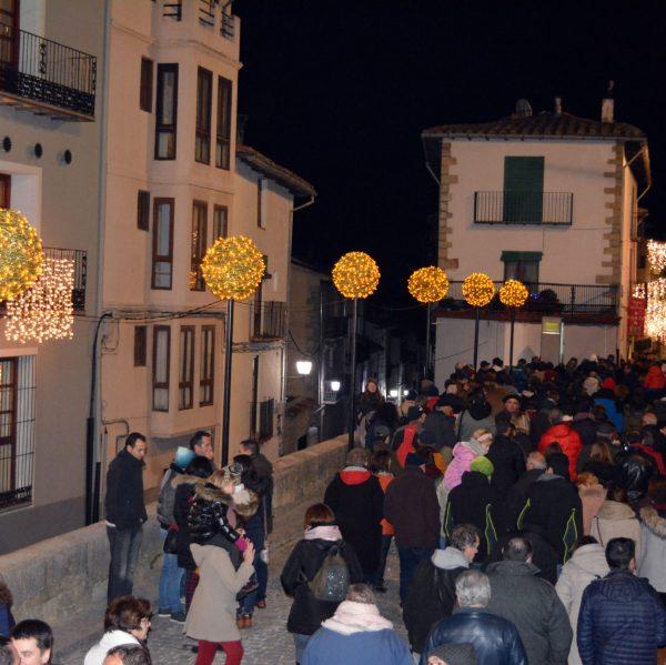 Encesa de les llums de Nadal a Morella 2018