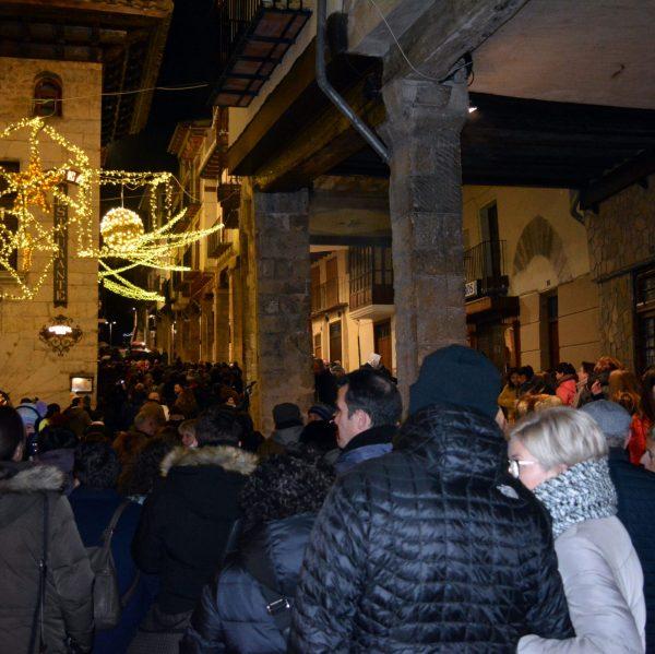 Encesa de les llums de Nadal a Morella a l'any 2018