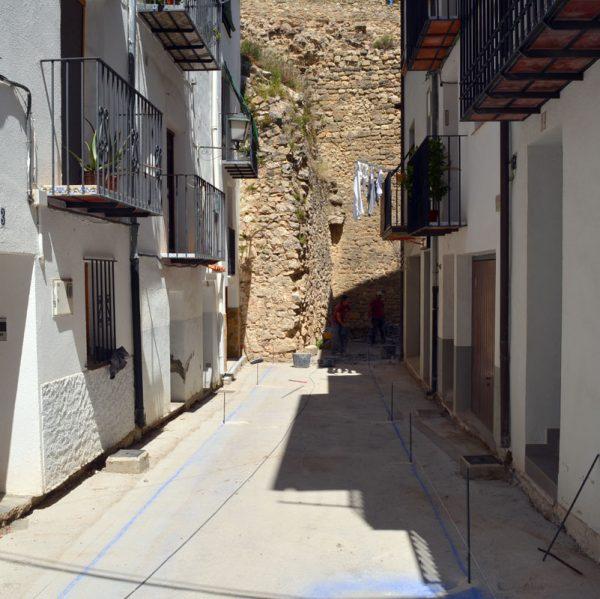Obres de millora del carrer La Taleca a Morella
