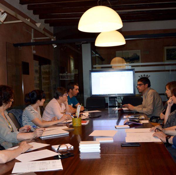 Reunió de les noves àrees de l'equip de govern de l'ajuntament de Morella