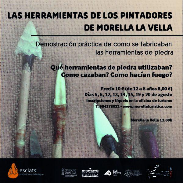 Las herramientas de los pintadores de Morella la Vella