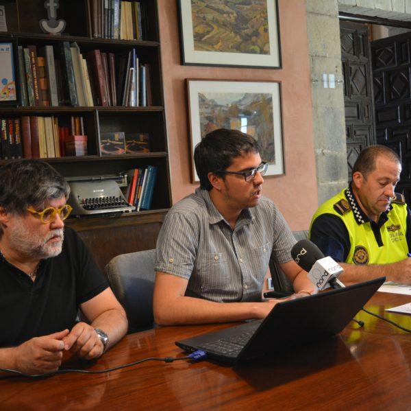 Roda de premsa sobre el pla de trànsit especial per a l'Anunci de Morella